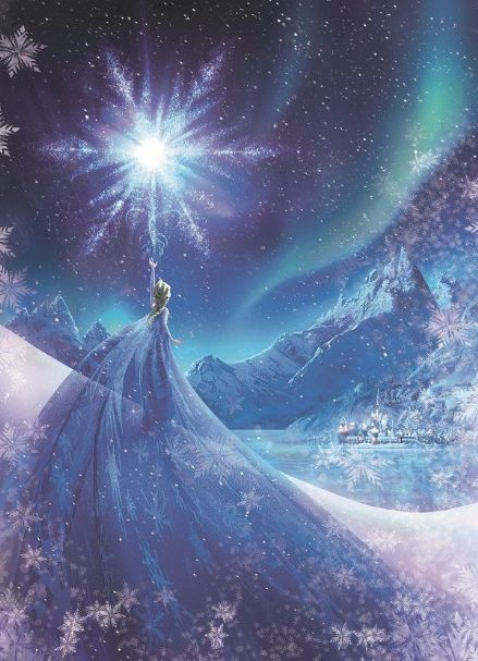 Frozen Elsa Queen wall mural wallpaper